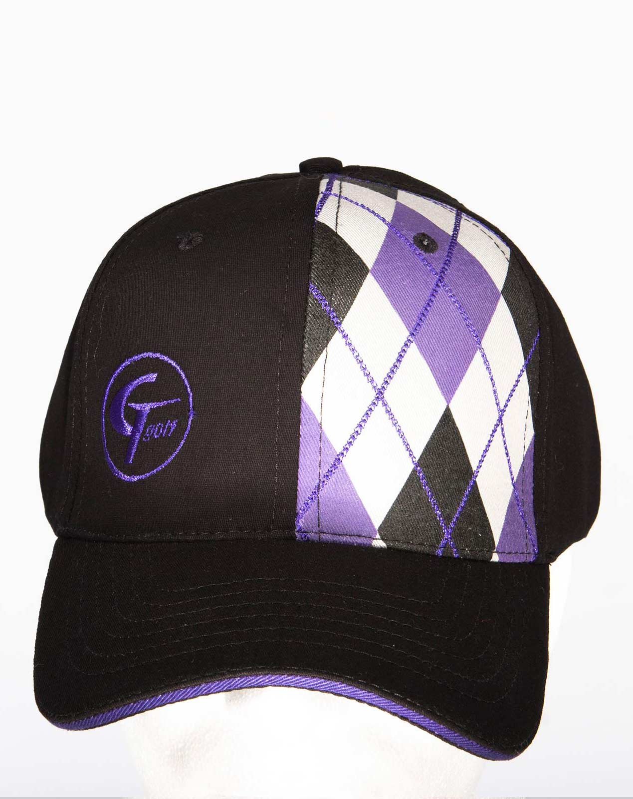 Embroidered Dove Golf Hat · Cable Stitch Argyle Black 1f75d35fb05